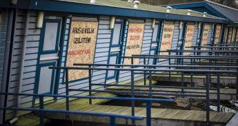 Ontruimde prostitutieboten aan het Zandpad in Utrecht