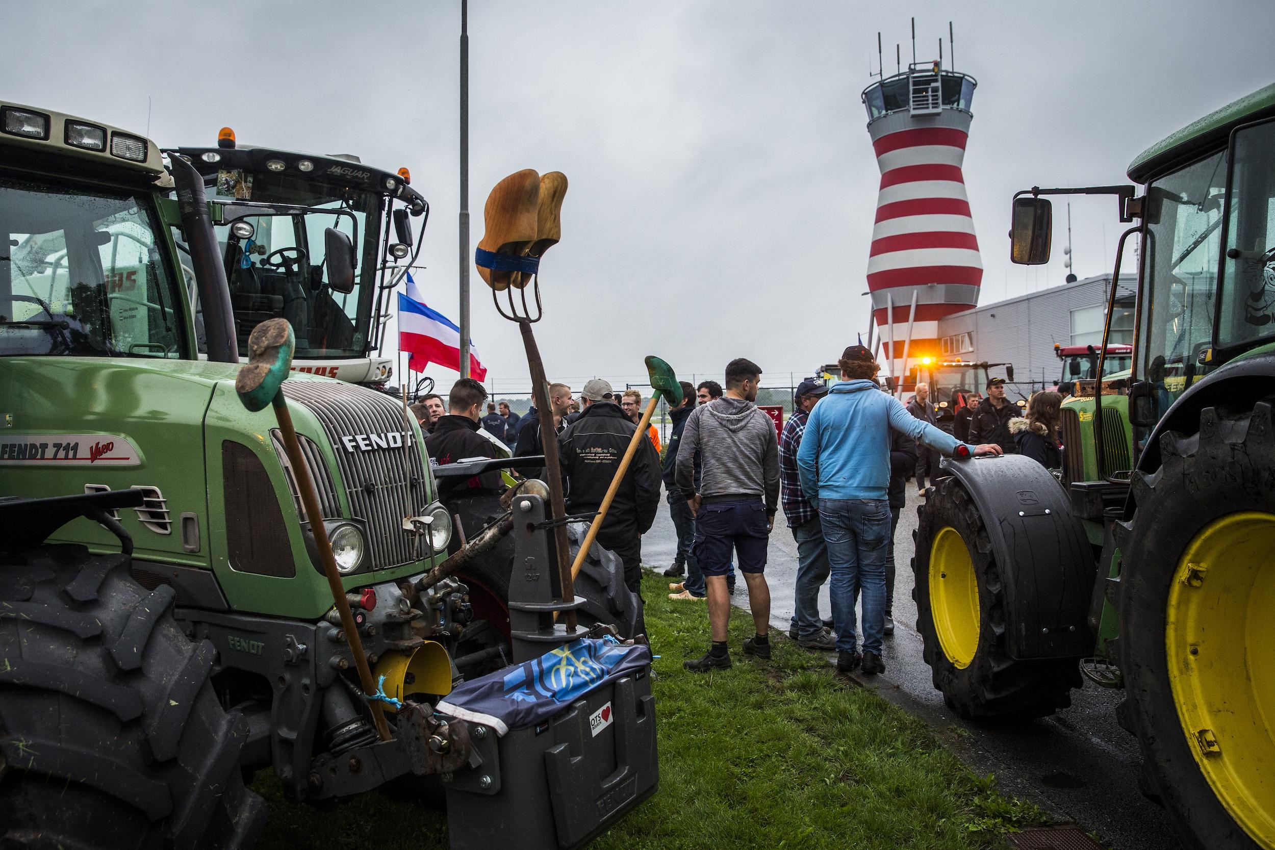 Boerenprotest bij Lelystad Airport